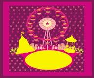Иллюстрация парка атракционов вектора Стоковая Фотография RF
