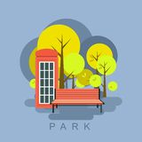 Иллюстрация парка города бесплатная иллюстрация