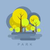 Иллюстрация парка города иллюстрация штока
