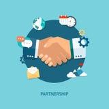 Иллюстрация партнерства Предпосылка для дела и финансов Стоковое Изображение