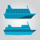Иллюстрация пассажирского корабля Иллюстрация вектора
