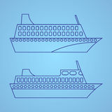 Иллюстрация пассажирского корабля Стоковое Фото