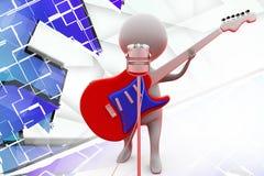 иллюстрация певицы человека 3d Стоковое фото RF