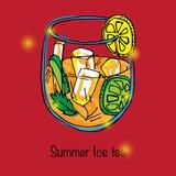 Иллюстрация питья лета Стоковое Изображение
