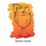 Иллюстрация питья лета Иллюстрация штока