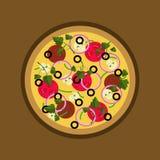 Иллюстрация пиццы иллюстрация вектора