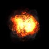 иллюстрация пожара конструкции черноты шарика предпосылки Стоковое Фото