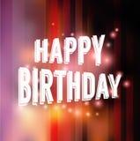 иллюстрация поздравительой открытки ко дню рождения счастливая Стоковые Фотографии RF