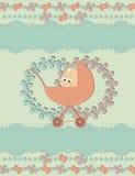 иллюстрация потехи карточки младенца прибытия стоковое фото