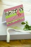 иллюстрация подарка конструкции карточки предпосылки флористическая ваша Стоковое Изображение RF