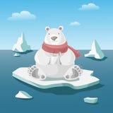 Иллюстрация полярного медведя Стоковое фото RF