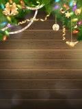 Иллюстрация праздников с оформлением рождества 10 eps Стоковое Фото