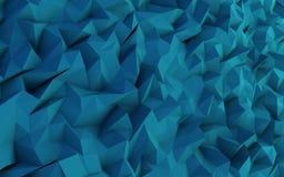 Иллюстрация предпосылки абстрактного blueTriangle геометрическая Стоковые Изображения RF
