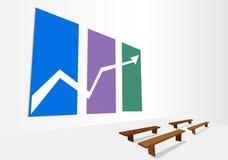 Иллюстрация предпосылки вектора графика состояния запасов графическая стоковые изображения