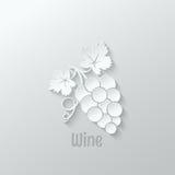 Иллюстрация предпосылки виноградин вина иллюстрация штока
