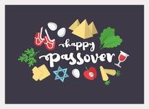 Иллюстрация предпосылки еврейской пасхи 10 eps Стоковое Изображение