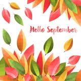 Иллюстрация предпосылки листьев осени Vektor Стоковое Изображение