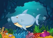 Иллюстрация предпосылки моря подводной иллюстрация вектора