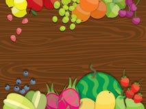 Иллюстрация предпосылки плодоовощ иллюстрация вектора