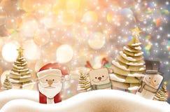 Иллюстрация предпосылки рождества смешного Санта Клауса и красного n Стоковые Изображения RF