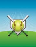 Иллюстрация предпосылки софтбола Стоковое Изображение RF