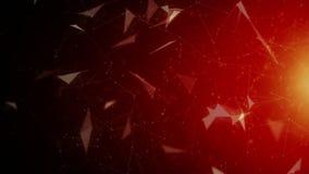 Иллюстрация предпосылки с частицами треугольника видеоматериал