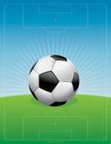 Иллюстрация предпосылки футбольного поля футбола Стоковая Фотография