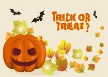 Иллюстрация предпосылки хеллоуина с тыквой Стоковое Фото
