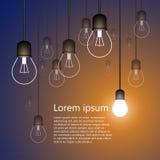 Иллюстрация предпосылки электрической лампочки Стоковая Фотография