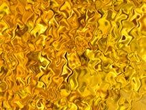 Иллюстрация предпосылки янтарных радужных отражений золотая абстрактная Стоковые Фото