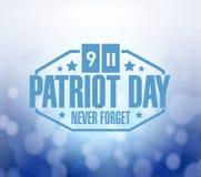 иллюстрация предпосылки bokeh знака дня патриота Стоковое фото RF