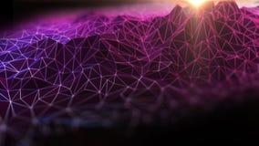 Иллюстрация предпосылки 3d конспекта ландшафта полигона Стоковое Фото