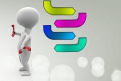 иллюстрация приемников телефона человека 3d Стоковые Изображения RF