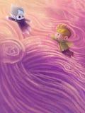 Иллюстрация: Принцесса Спать снега стоковые фото