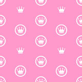 Иллюстрация принцессы Безшовн Картины Предпосылки Вектора Стоковая Фотография
