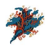 Иллюстрация притяжки руки, zentangle книжка-раскраски Стоковое Фото