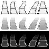 Иллюстрация прокладки фильма для концепций фотографии Комплект несколько иллюстрация вектора