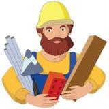Иллюстрация профессии построителя плоская бесплатная иллюстрация