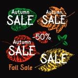 Иллюстрация продажи осени Стоковые Изображения RF