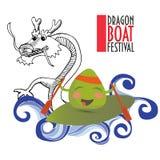 Иллюстрация продвижения фестиваля гонок шлюпки дракона Стоковые Фотографии RF
