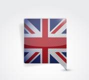 Иллюстрация пузыря сообщения Великобритании Великобритании иллюстрация штока