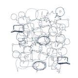 Иллюстрация пузыря текста Стоковые Изображения