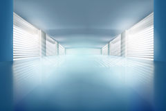 Иллюстрация пустой залы также вектор иллюстрации притяжки corel Стоковые Фото