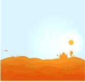 Иллюстрация пустыни вектора Стоковые Изображения