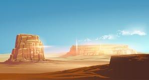 Иллюстрация пустыни вектора Стоковое Фото