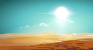 Иллюстрация пустыни вектора Стоковая Фотография RF