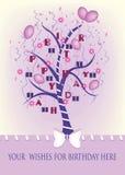 Иллюстрация плаката дня рождения Стоковое Изображение