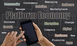 Иллюстрация платформы экономическая Стоковые Изображения RF