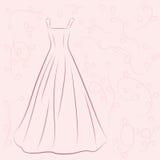 Иллюстрация платья свадьбы Стоковые Фотографии RF