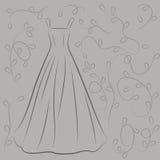 Иллюстрация платья свадьбы Стоковое фото RF